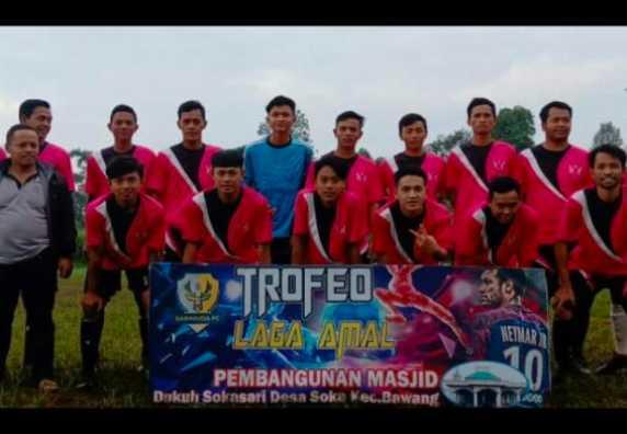 Tim Sepak Bola Semawur FC Mengikuti Laga Amal